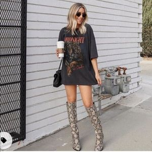 NWT Marc Fisher Retie 2 Snakeskin Knee High Boots